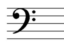 blank bass clef staff - photo #44